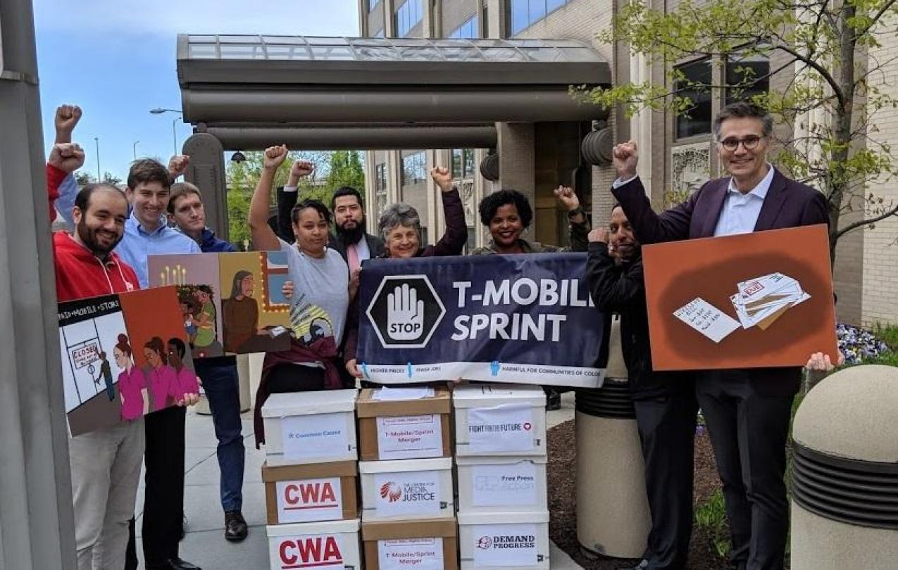 FCC Petition Delivery T-Mobile Sprint Merger