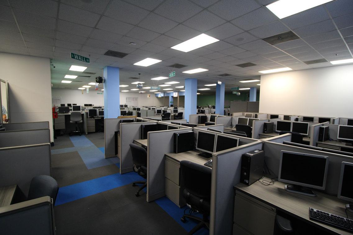 Empty call center