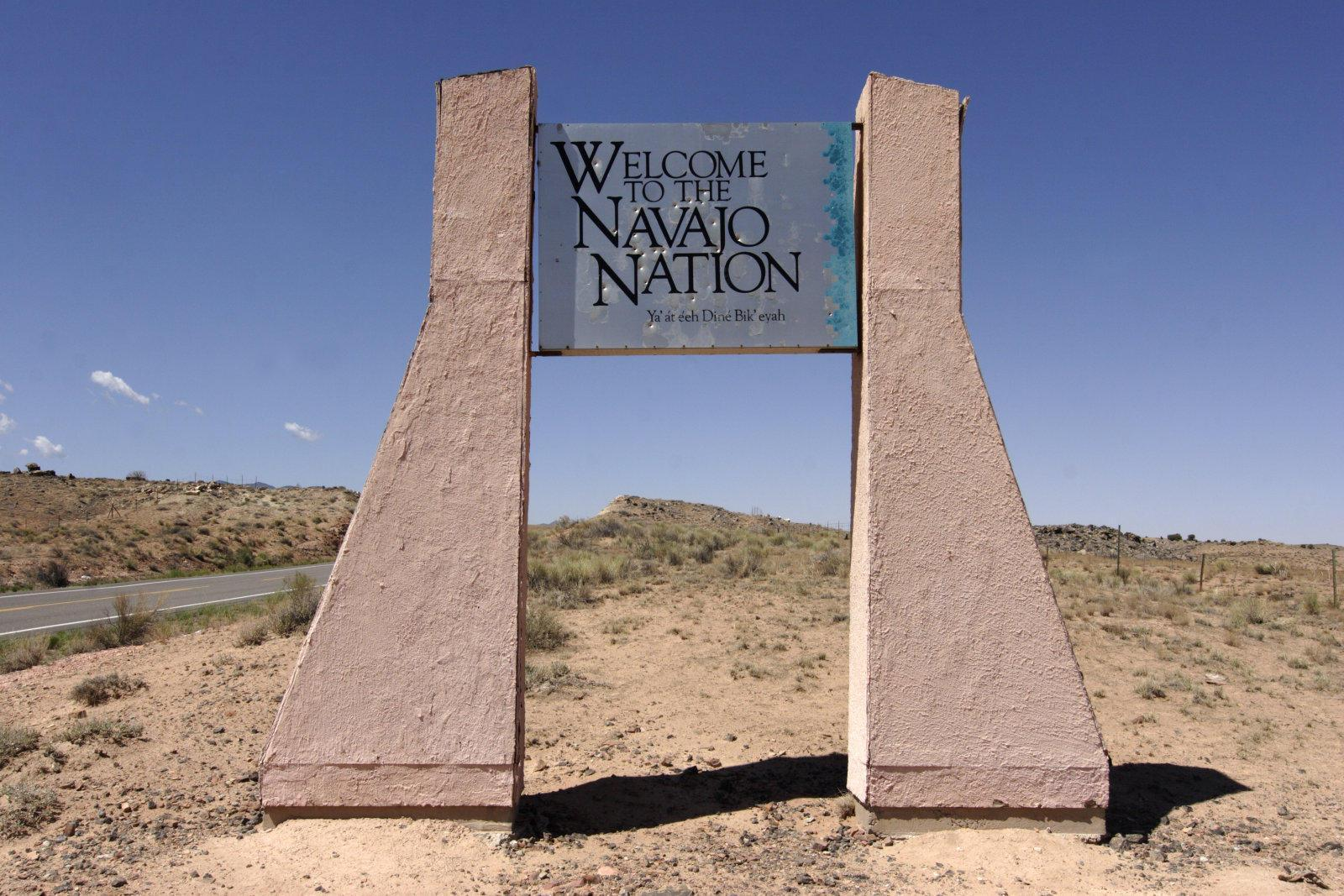 Welcome to Navajo Nation sign